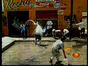 Water fight in Mexico