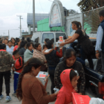 Relief Effort Today in Mexico State (video)