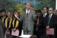Arnulfo sings in the Christmas Cantata