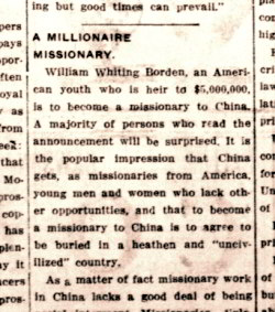 A Millionaire Missionary