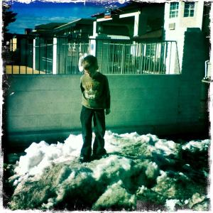 Nathanael in the snow