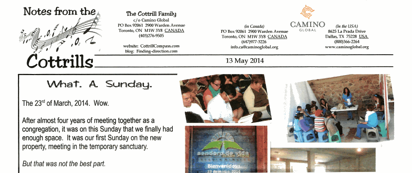 Notes from the Cottrills May 2014 - part 1
